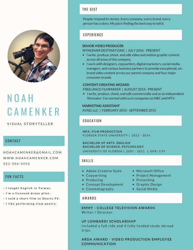 Noah Camenker Resume